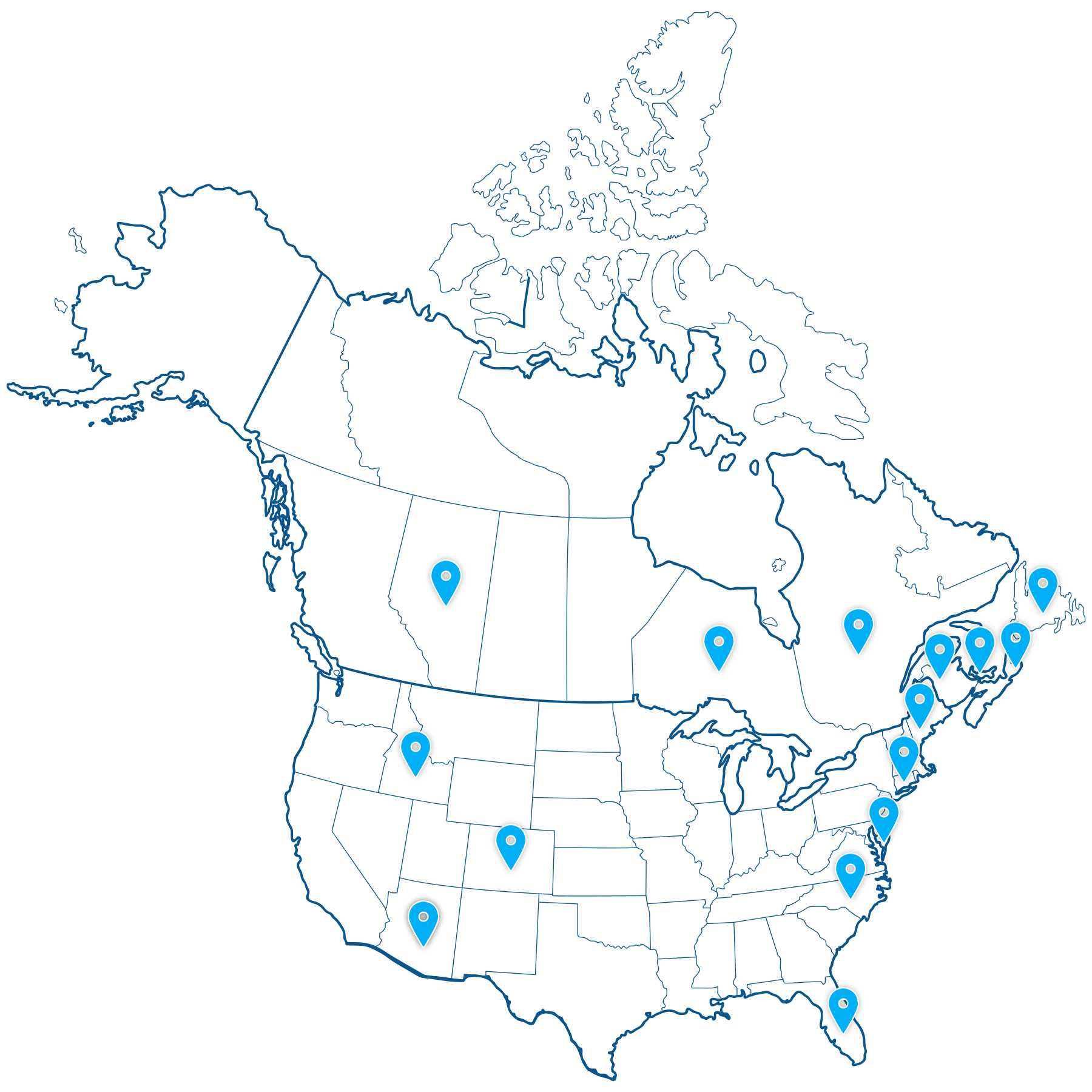 map - PEI Bag Co. works with companies across North America